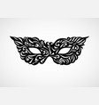 black and white isolated masquerade mask vector image