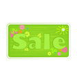 bright green spring colors inscription word sale vector image