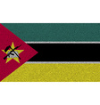 Flags Mozambique on denim texture vector image