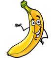 funny banana fruit cartoon vector image