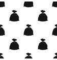 garbage bag icon in black style isolated on white vector image