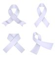 Lavander awareness ribbons vector image