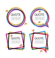 set quote frame colorful quote frames for vector image