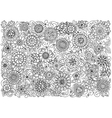Ethnic floral zentangle doodle background pattern vector image