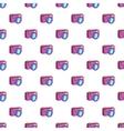 Photo camera pattern cartoon style vector image
