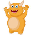cute yellow monster cartoon vector image