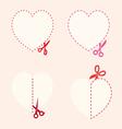 set of cutting scissors Love vector image