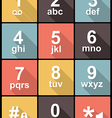 phone keypad in Flat Design for Web and Mobile vector image