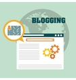 Blog blogging and blogglers theme vector image