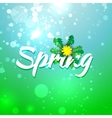 Green blue spring abstract background vector image
