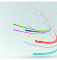 Bright abstract lines streaming background vector image