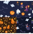 set of seamless patterns for halloween party vector image