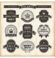 Vintage sale labels set vector image