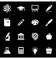 white education icon set vector image
