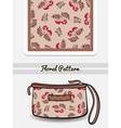 Cosmetic Bag Red Berries vector image