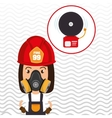 woman fire alarm vector image