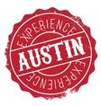 Austin stamp rubber grunge vector image
