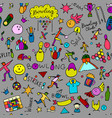 bowling seamless pattern for your design vector image