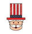 uncle sam character icon vector image