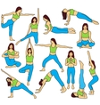 Yoga poses collection - colored vector image