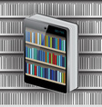 Phone Book on Library background vector image