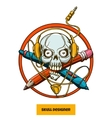 Skull Designer vector image
