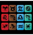 Horoscope iconsZodiac signs charactersSymbol of vector image