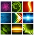 Abstract backgrounds collection modern vector image