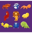 Africa Animals with Emotions vector image