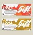 Gift Voucher Modern Template Design vector image