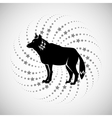 Animal design wolf icon Silhouette vector image