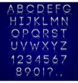 chrome alphabet letters with reflection on dark vector image