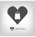 I love shopping logo vector image