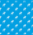 moose pattern seamless blue vector image