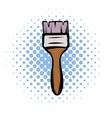 Paint brush comics icon vector image