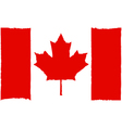 Painted Canadian flag vector image