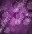 Abstract purple background with circles vector image