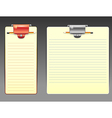 Task board with lines vector image vector image