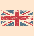 england flag with grunge effect vector image