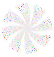person fireworks swirl rotation vector image