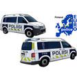 finland police car vector image vector image