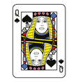 Stylized Queen of Spades vector image vector image