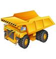 Mining truck vector image vector image