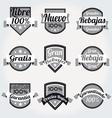 retro sales free labels vector image