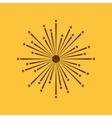 Firework icon Holiday symbol Flat vector image