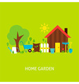 Home Garden Flat Concept vector image