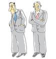 Men depressed vector image vector image