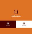 coffee club logo vector image