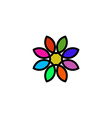 Colorful floral logo design flower painted in vector image