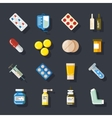 Drugs or medicine Pills capsules mixture vector image